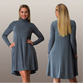 5XL 6XL Plus Size Women Dress Fall Winter Long Sleeve Ladies Club Party Dresses Loose Turtleneck Casual Vestidos