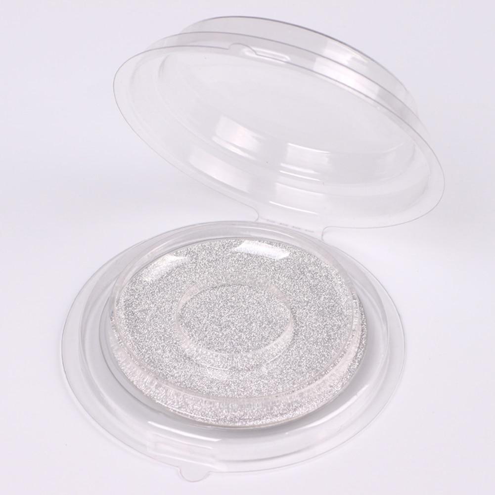 10pcs False Eyelash Packing Box Transparent Lid Tray Individual Magnet Eyelashes Stand Acrylic Pad Lash round Tool Case(China)