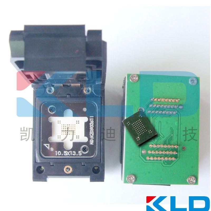 BGA63 Flash Test Socket with DIP48 adapter board, Clam Shell Pogo Pin,BGA63 Flash Memory Burn In Test