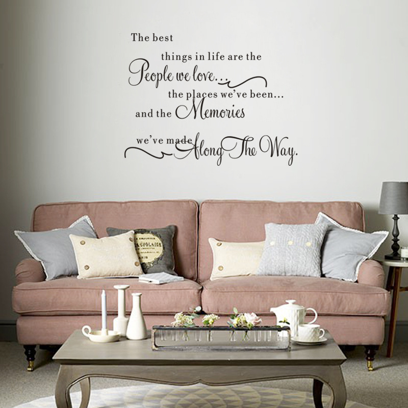 2016 Hot Sale The Best Thing Mural Removable Wall Sticker Livingroom Bedroom Home Decoration