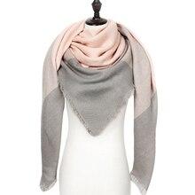 Теплый кашемировый зимний шарф женский платок качество хорошее шерсть шарфы женские,модные плед шарфы платки палантины,большой шарф в форме треугольника,шарф мягкий и приятный на ощупь
