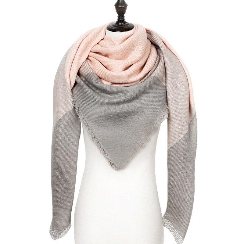 Designer Winter Women Scarf Plaid Warm Cashmere Scarves Shawls Female Luxury Brand Pashmina Scarf Lady Blanket Wraps 2019