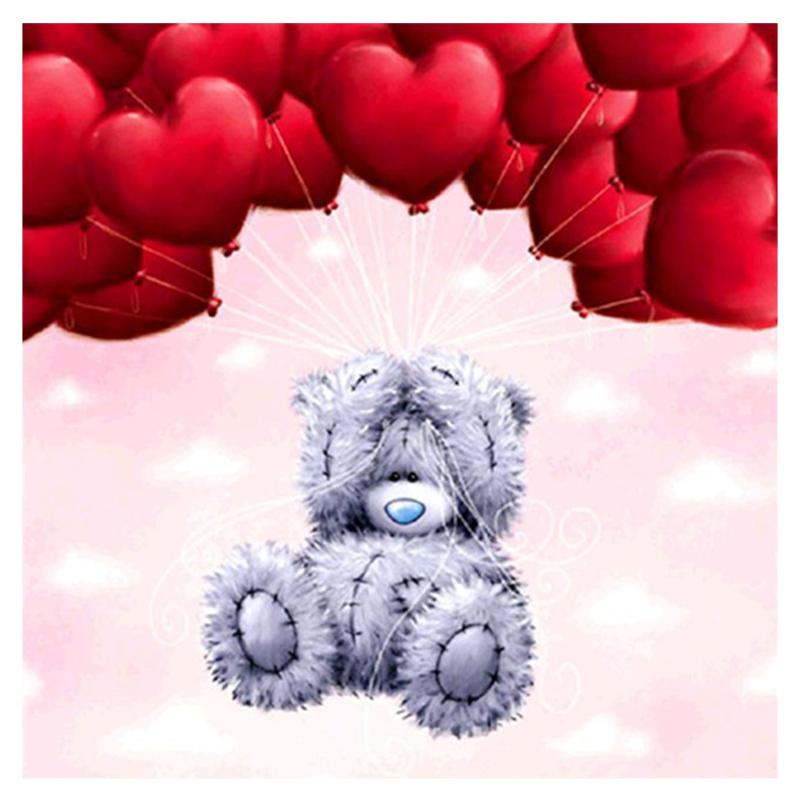 Cute bear horse embroidery diamond painting square diamond painting cross stitch craft wall poster childrens room decoration
