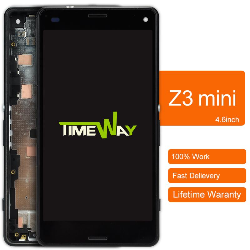 Prix pour 2 pcs alibaba chine Pour Sony Xperia Z3 Mini Lcd Écran Affichage Et Écran Tactile Digitizer Assemblée Avec Cadre