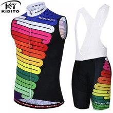 KIDITOKT дышащая летняя одежда без рукавов для гонок и велоспорта, одежда для велоспорта, Ropa Maillot, велосипедные жилеты, спортивная одежда для мужчин