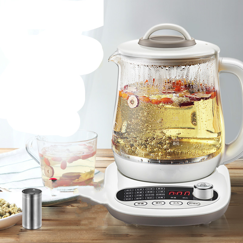 health raising pot fully automatic thickened glass multi-function tea ware body electric heating kettle ware Anti-dry Protection glass electric kettle boiling tea ware fully automatic health raising pot art furnace safety auto off function