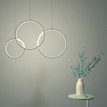 AC85-265V Pendant Chandelier For Dining Kitchen Bar Living Room luminaire plafonnier 110-220V Circle Modern fixture