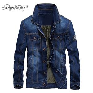 Image 3 - DAVYDAISY 2019 New Arrival Denim Jacket Men Washed Cowboy Stand Collar Hip Hop Ripped Street Designer Men Jeans Coat DCT 231