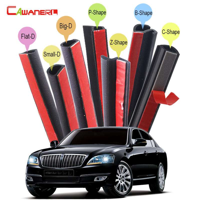 Cawanerl Car Door Hood Trunk Rubber Sealing Strip Kit Sound Insulation Seal Edge Trim Weatherstrip For SSANG YONG Chairman cawanerl whole car hood trunk door sealing seal strip kit seal edging trim rubber weatherstrip for jaguar c x17 f pace