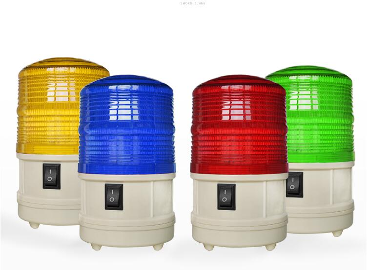 Battery Powered LED Flashing Lamp Security Alarm Strobe Signal Warning Light Blinker (no Sound, No Battery Included)