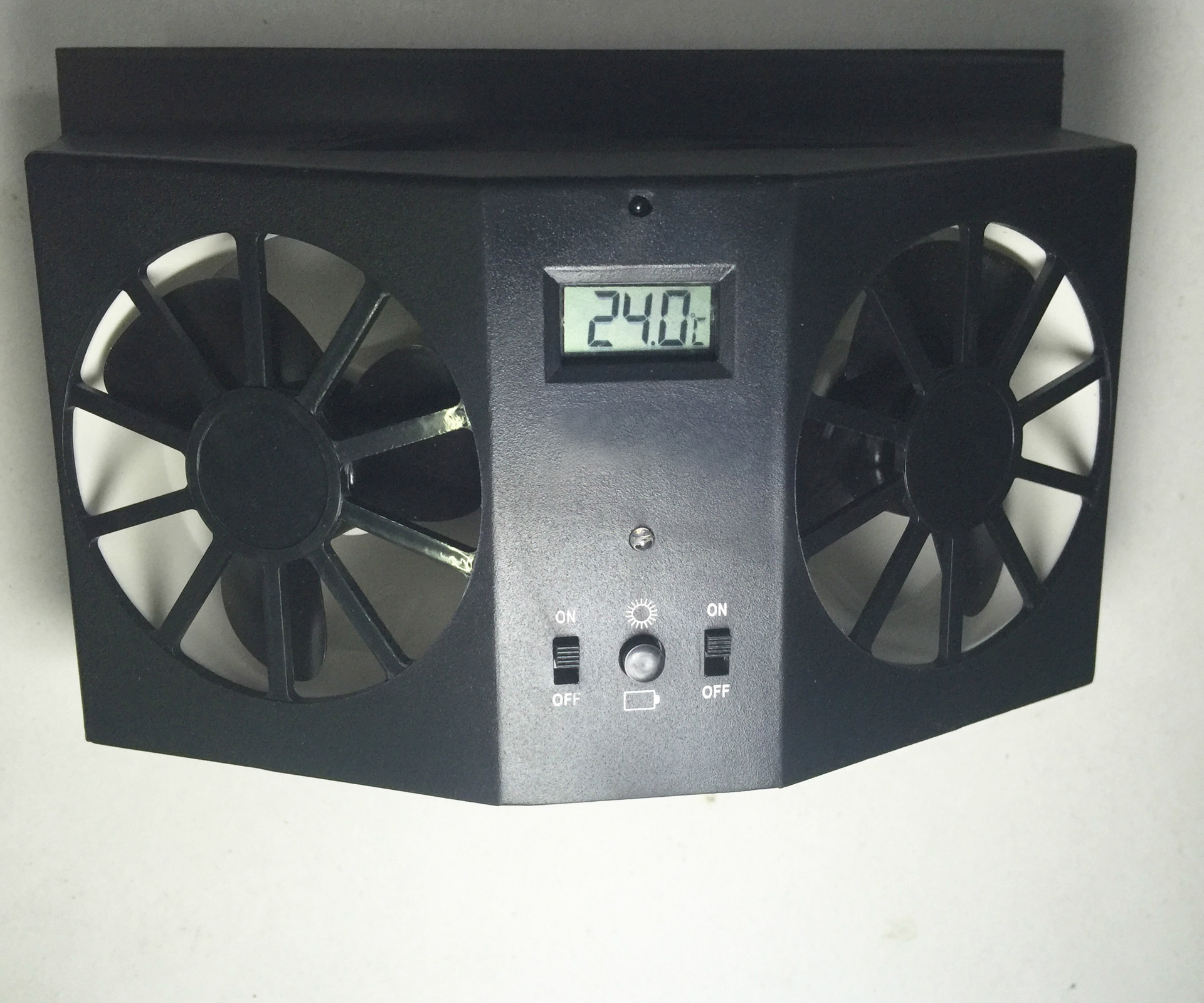 Without Battery Black Window Auto Ventilator Cooler Vent Rubber Car Ventilation Fan 12V solar Sun Power Air Radiator