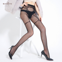все цены на Sexy Jacquard Crotch Fishnet Leg Pantyhose Tights Garter Belt Mimic Nylon Stretch Fabric Stocking Legs Alluring Tights Lingeries онлайн