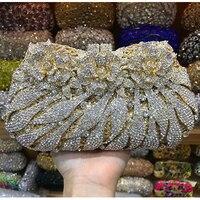 XIYUAN/Брендовая женская вечерняя сумочка, женский клатч со стразами и кристаллами, клатч на день, кошелек, свадебная сумочка, вечерние праздни