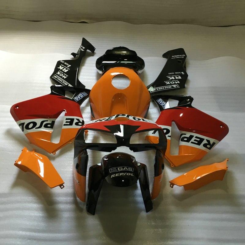 Red orange black Fairing Kit for HONDA CBR600RR 05 06 CBR 600RR F5 2005 2006 CBR600