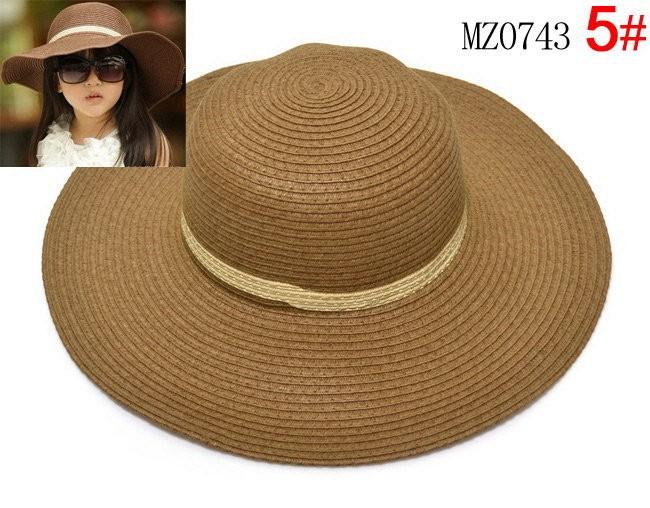 moeble маленьких девочек летние шляпы дети вс шляпа стиль детский Tropical solomon SL brim дети шляпа ребенок крышка 10 шт. bh510