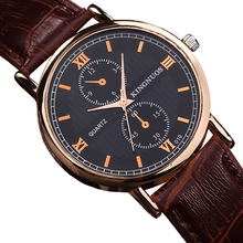 hot deal buy new fashion casual mens womens wristwatch roman numerals unisex watch quartz leather strap lovers female watches clock horloges