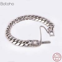 100% 925 sterling silver punk rock men and women bracelets and bracelets Hiphop never faded chain bracelet silver jewelry lover