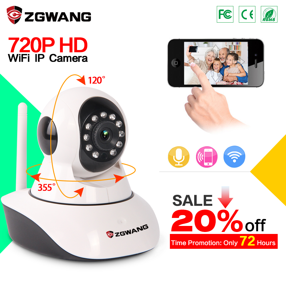 Network Wireless 720P Ip Camera Security Video Surveillance WIFI TF Card Two way Audio Support Baby Monitor With US Plug daytech wireless ip network security camera 720p wifi surveillance video baby monitor p t camera two way audio on mobile dtc102
