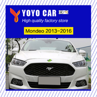 New design ABS modify car front grille racing grills grill cover trim for Mondeo 2013 2014 2015 2016