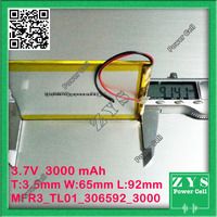 Safety Packing (Level 4) 3.7V 300mAh battery 306592 Lithium Polymer Rechargeable Battery Li Po li ion For Mp3 DVD Camera GPS PSP
