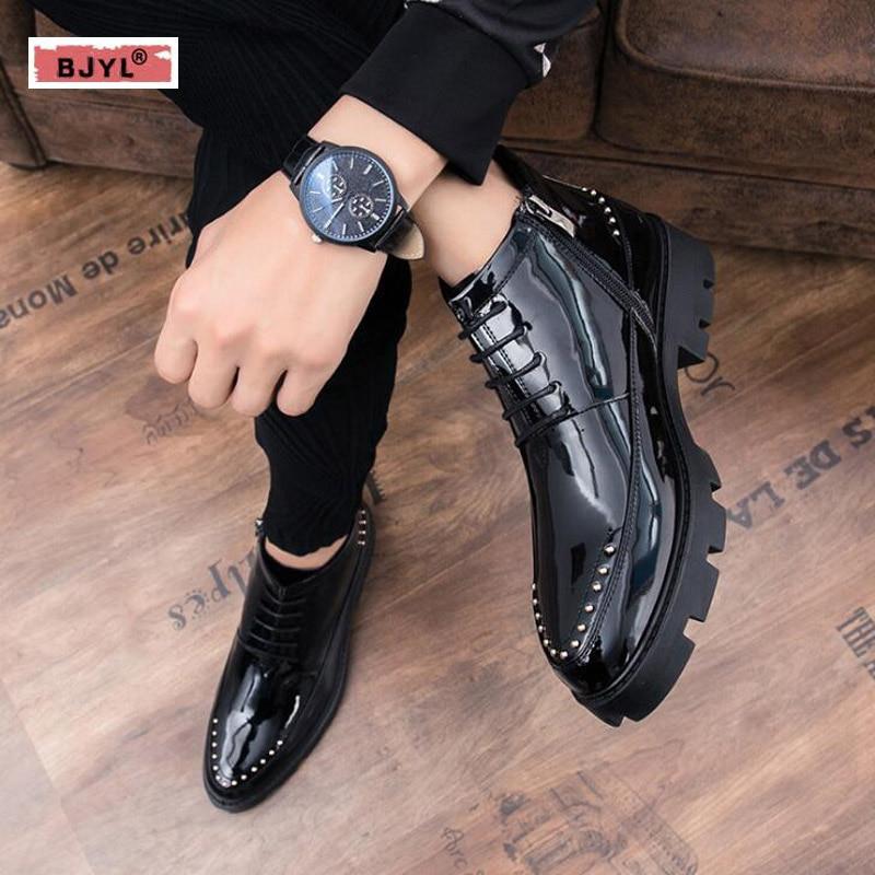 Ropa Pé Sapatas Se Todo Do Marrom Mocassins Dos Vestem Preto Y Couro Homens Vestido Zapato De Hombre Os Bjyl Casamento Mens Dedo Sapatos Pontas UwIq7dq
