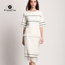 Spring Skirt for Women Sets EE Women Sets 2 Pieces Skirt and Tops Casual Knitted Sweater and Skirts