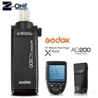 Godox AD200 200Ws TTL GN60 HSS Вспышка Встроенная 2.4 г Беспроводной + XPro F флэш триггера передатчик для Fuji x Pro2 X T20 X T2 X T1