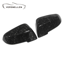 F10 Forge Carbon Mirror Cover 1:1 Replacement for BMW F10 F11 F01 F02 F07 F18 5 serie 2014 UP OEM Fitment Side Mirror Caps