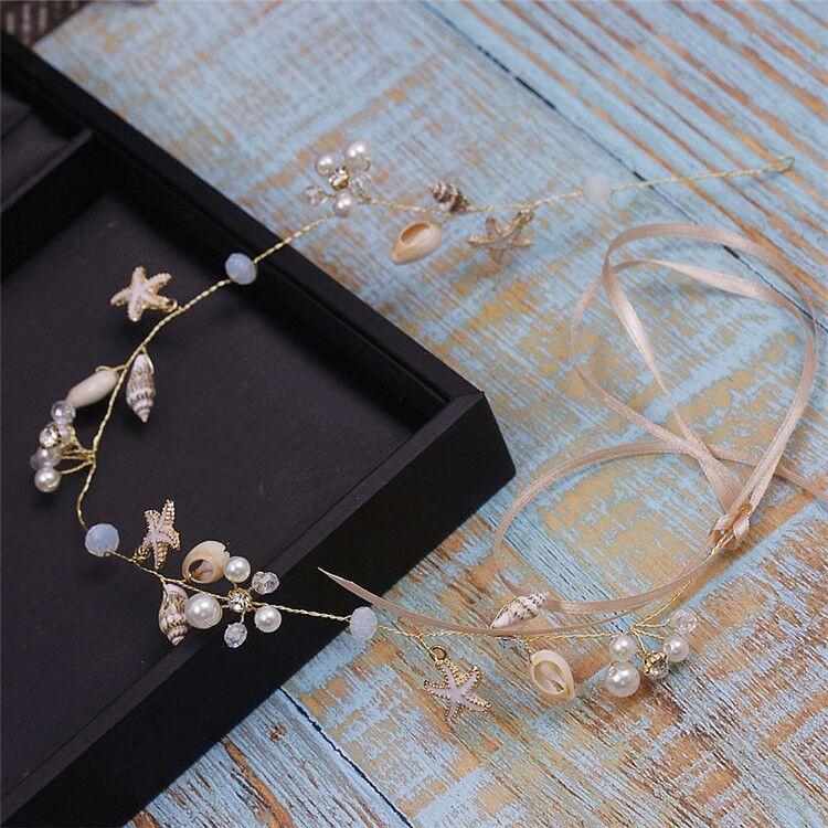 Shell Headband Hair-Jewelry Starfish Wedding-Hair-Decoration Flower-Girl Simple Bridesmade