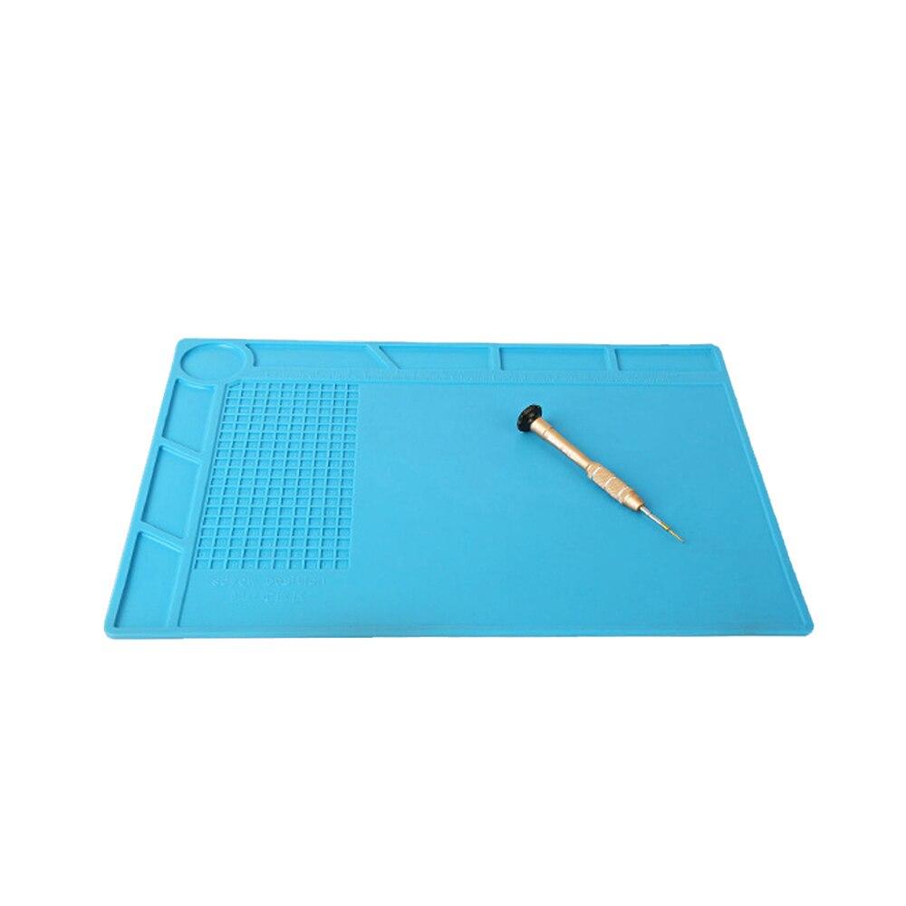 Купить с кэшбэком Kaisi Heat Insulation Silicone Pad Mat Anti-Static 350x250mm For BGA Soldering Repair Station Maintenance Platform With Desk