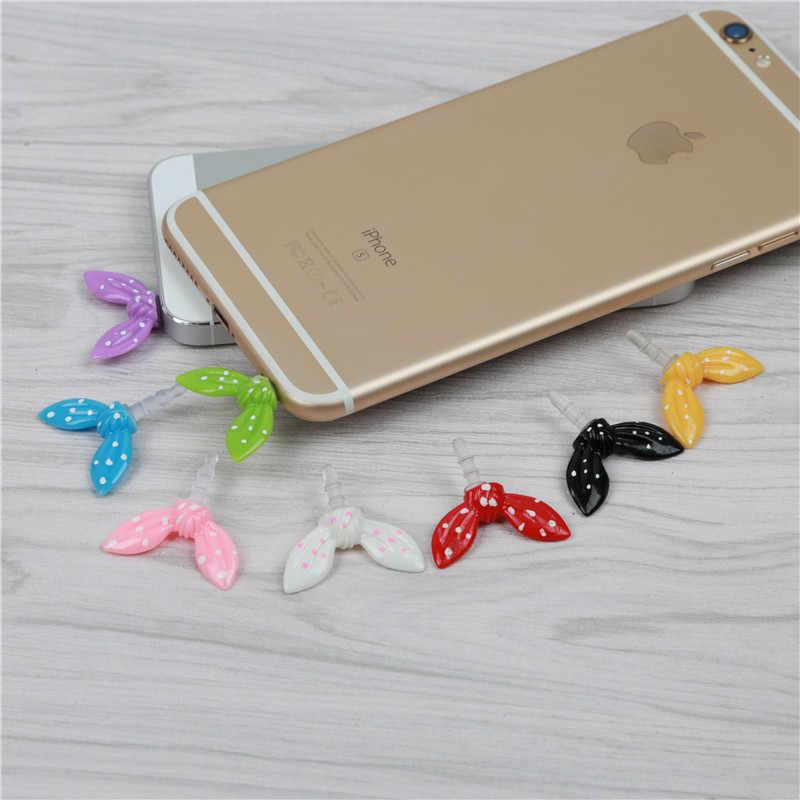 Tavşan Kulak 3.5mm Jack Kulaklık Toz Fişi Sevimli Renkli Ilmek Toz Geçirmez Fişi Kapakları apple iPhone 5 6 6 S Telefonu Aksesuarları