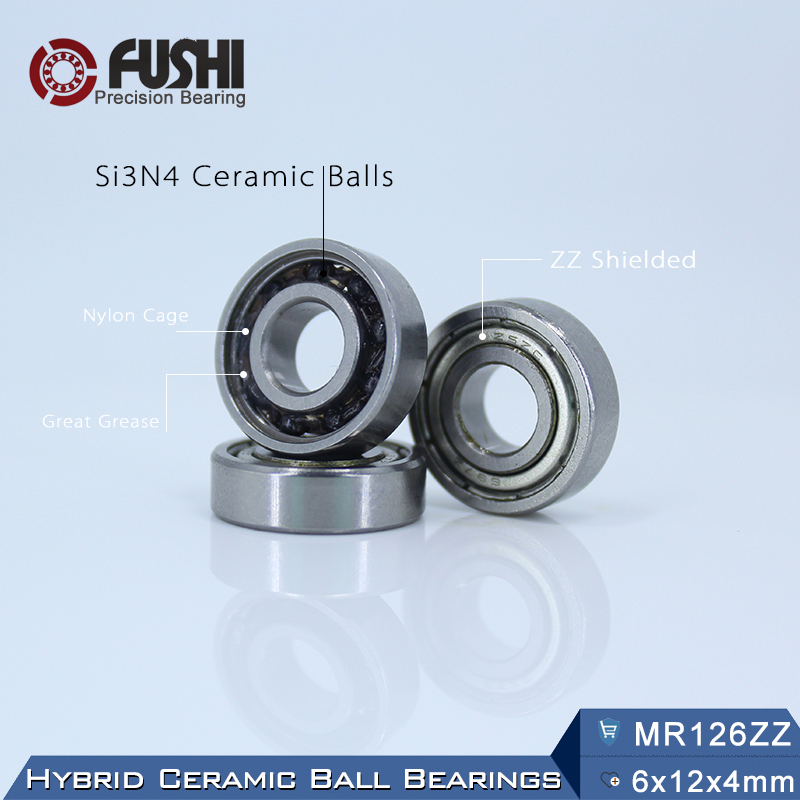 MR126 Hybrid Ceramic Bearing 6*12*4 mm ABEC-1 ( 1 PC) Industry Motor Spindle MR126HC Hybrids Si3N4 Ball Bearings 3NC MR126ZZ топор truper hc 1 1 4f 14951