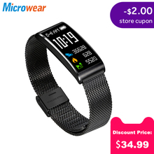 Microwear X3 IP68 Waterproof smart fitness bracelet pedometer blood pressure band wristband Android iOS tracker