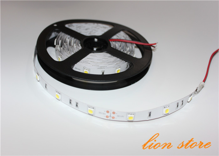 5m/lot Non waterproof LED strip 5050 SMD 12V flexible light 30LED/m,5m 150LED,White,warm White ,cold white Blue,Green,Red,Yellow