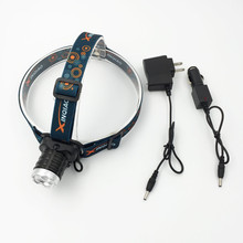 2000 Lumens Rechargeable Headlight Headlamp XPE LED Bulit in Battery with 2 pcs color lens + AC/Car Charger Charging Head Torch