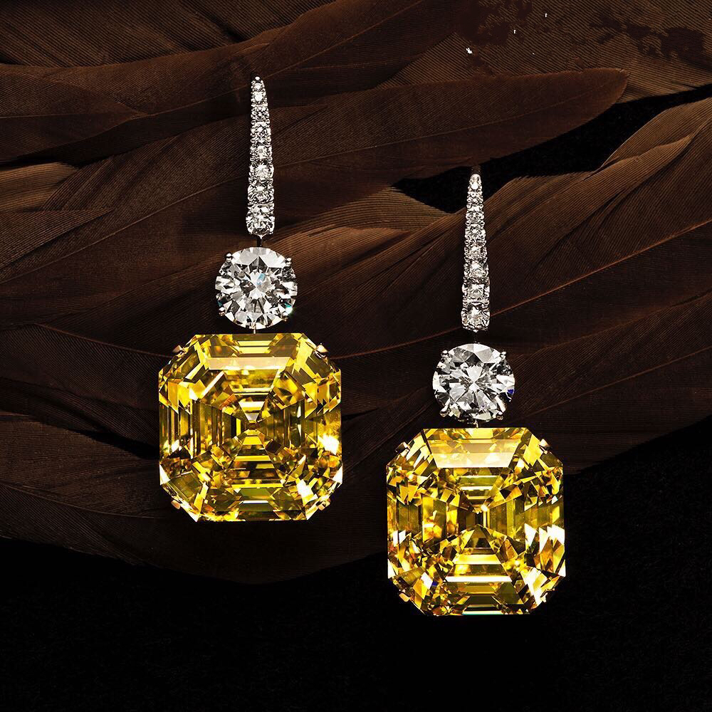 B315A 2016 better New yellow color square shape Cubic Zircon Stud Earrings for women gift with free shipping все цены