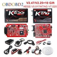 Online V2.47 EU Red KESS V5.017 OBD2 Manager Tuning KTAG V7.020 4 LED KESS V2 5.017 BDM Frame K TAG V2.25 Auto ECU Programmer