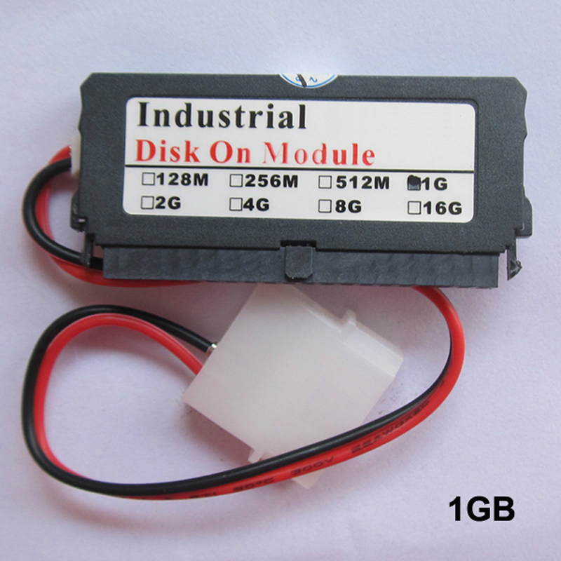 Original! Industrial Disk On Module 40 Pins 1GB 2GB 4GB 8GB DOM IDE Flash Memory Card Big Promotion Memory Card With Power Cable