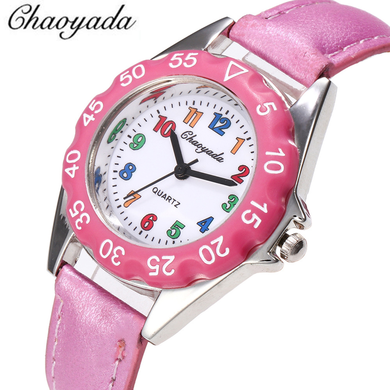 002aa52399d Menino de alta Qualidade Relógio de Presente Pulseira de Couro Do Falso da  Menina Crianças crianças