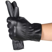 Classics Mens Luxurious Leather Winter Super Driving Warm Gloves Cashmere luva academia fitness spor eldiveni luvas de inverno