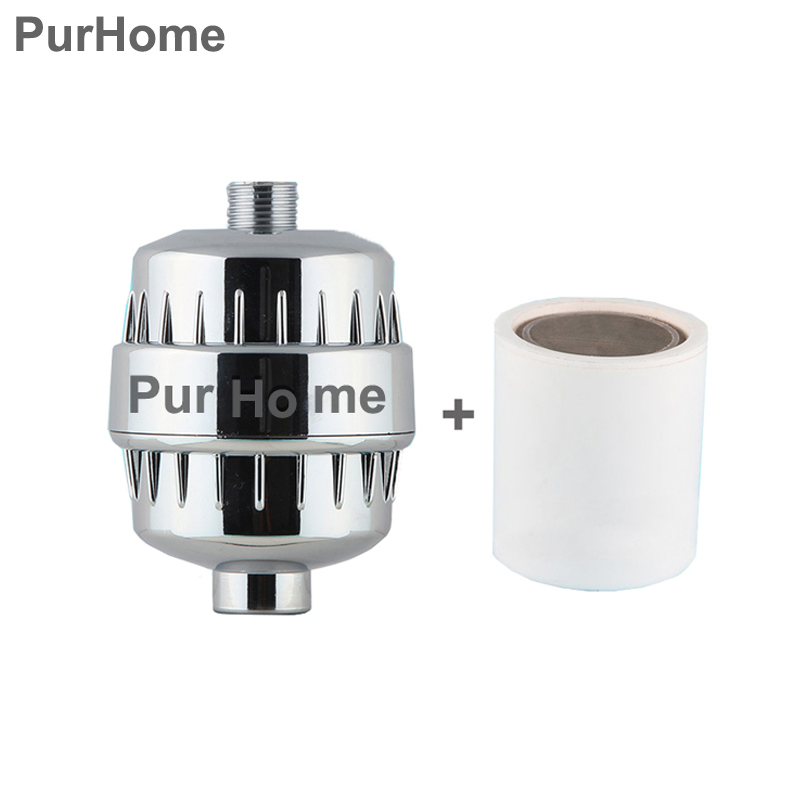 In-line bathroom Shower Filter bathing water filter purifier treatment Health softener Chlorine Removal 2pcs filter Cartridge