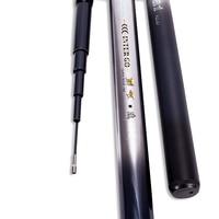 Dual use Carbon Fiber Hollow Fishing Rod Fly Fishing Pole Telescopic Fishing Rod 3.8/4.5/5.2/6.0M Power H Stream Rod Hand Rod