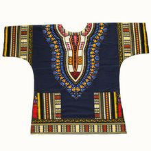 Dashiki fashion design Afrikaanse traditionele gedrukt 100% katoen Dashiki T-shirts voor unisex Tribal Etnische Succunct Hippie 2019(China)