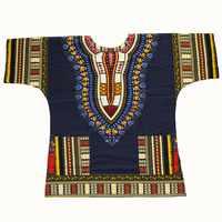 Dashiki conception de mode africaine traditionnelle imprimé 100% coton Dashiki T-shirts pour unisexe Tribal ethnique Succunct Hippie 2019