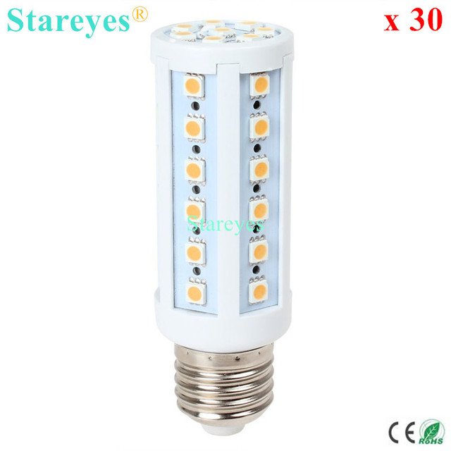 Free shipping 30 pcs E27 E14 B22 SMD 5050 42 led 9W AC110-240V Corn Bulb led droplight Lamp corn light led downlight Lighting