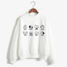 New Kpop ARMY BTS Hoodie Sweatshirts Korean BT21 Jimin Funny Fashion Cartoon Print Women/Men Hooded Pullover Tracksuit Female(China)