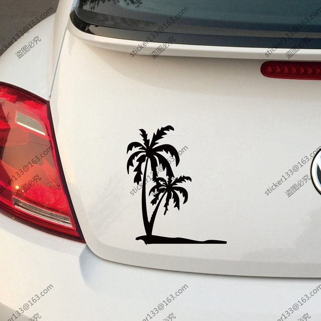 Palm tree decal sticker hawaii car trunk boat window vinyl die cut you choose size