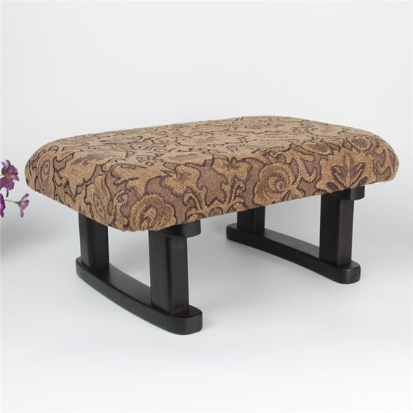 Fixed Legs Zen Meditation Bench Stool Portable Wood Yoga Seiza Kneeling Meditation Bench Padded Cushion Angled Seat Japan Stool moving into meditation