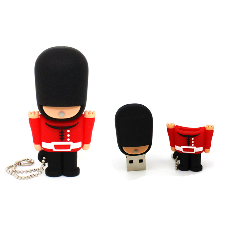 External Storage Cartoon Army Usb Flash Drive Pen Drive High Hat British Soldier Memory Stick 4/8/16/32/64gb Pendrive U Disk Orders Are Welcome.