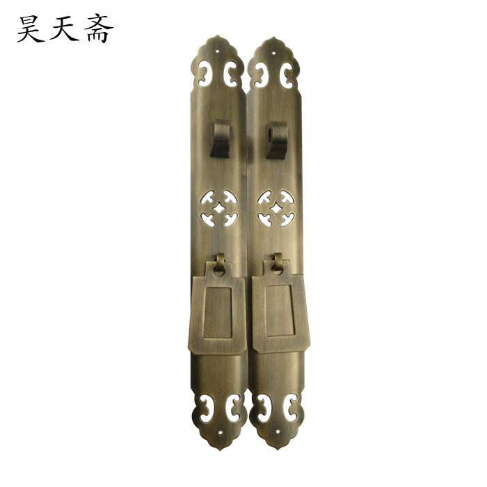 [Haotian vegetarian] antique Chinese noodles copper handle cabinet handle cabinet door handle Classical handle HTC-255[Haotian vegetarian] antique Chinese noodles copper handle cabinet handle cabinet door handle Classical handle HTC-255